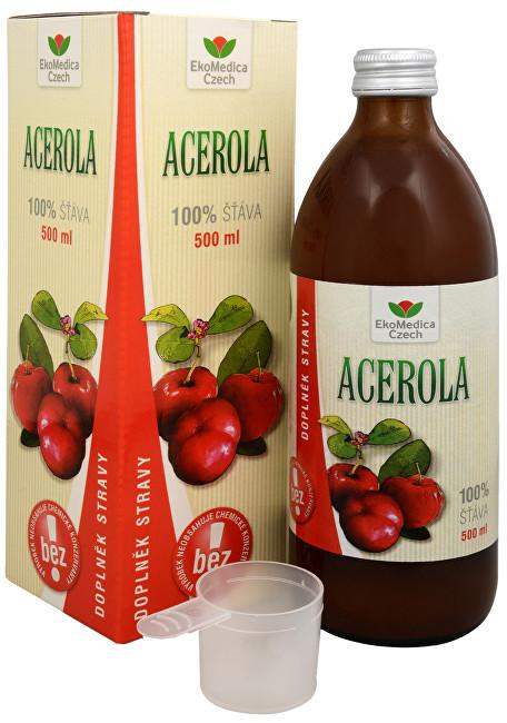 Zobrazit detail výrobku EkoMedica Czech Acerola - 100% šťáva z aceroly 500 ml