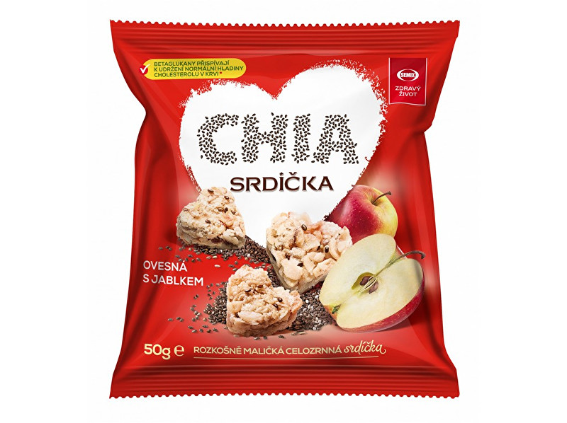 Zobrazit detail výrobku Semix Chia srdíčka ovesná s jablkem 50g
