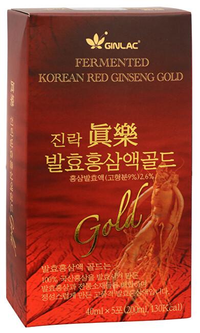 Zobrazit detail výrobku GINLAC Fermented Red Ginseng Power Drink GOLD - ženšenový nápoj 5 x 40 ml