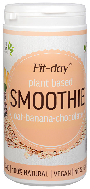 FIT-DAY FIT-DAY Plant based smoothie OAT-BANANA-CHOCOLATE 600 g
