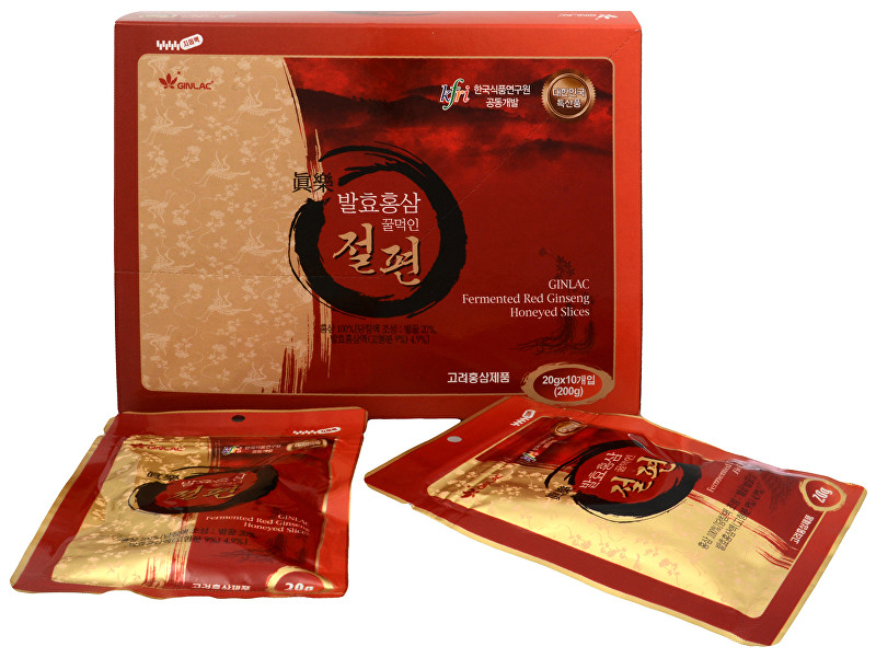 GINLAC GINLAC Fermented Red Ginseng medové plátky 200 g