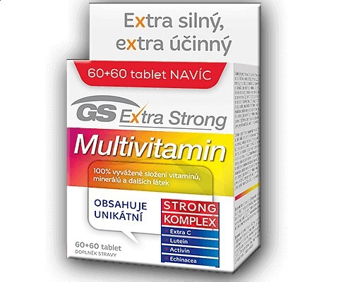 Zobrazit detail výrobku GreenSwan GS Extra Strong Multivitamin 60 tbl. + 60 tbl. ZDARMA