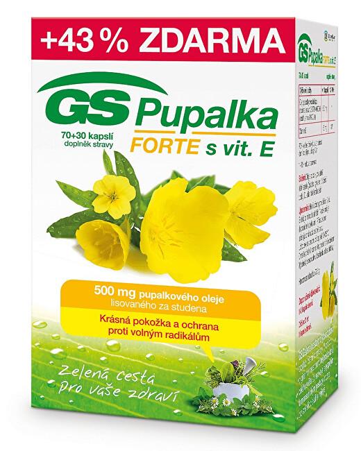 Zobrazit detail výrobku GreenSwan GS Pupalka Forte s vitaminem E 70 kapslí + 30 kapslí ZDARMA