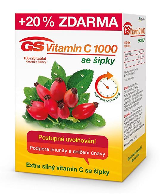 GreenSwan GS Vitamín C 1000 + šípky 100 tbl. + 20 tbl. ZD ARMA