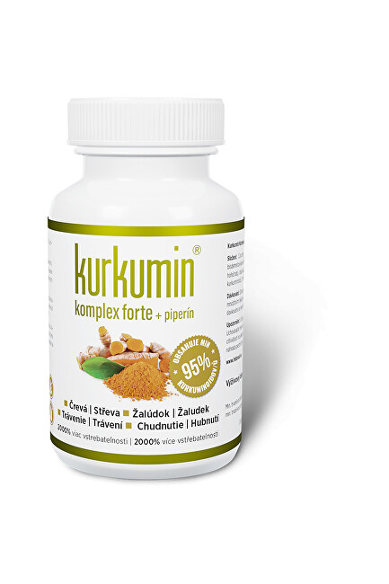 Zobrazit detail výrobku Synergia Kurkumin komplex FORTE 300 mg + piperin 60 kapslí