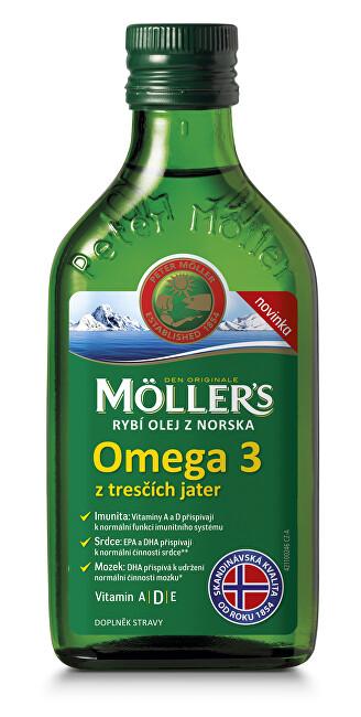Zobrazit detail výrobku Möller´s Möller´s rybí olej Omega 3 z tresčích jater 250 ml