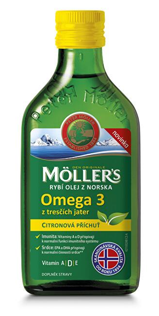 Zobrazit detail výrobku Möller´s Möller´s rybí olej Omega 3 z tresčích jater s citronovou příchutí 250 ml