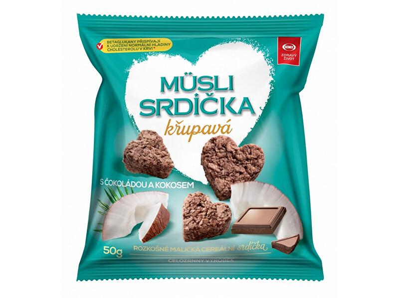 Zobrazit detail výrobku Semix Musli srdíčka křupavá s čokoládou a kokosem 50g