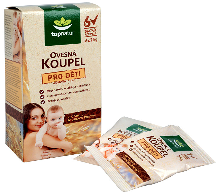 Zobrazit detail výrobku Topnatur Ovesná koupel pro děti 6 x 25 g