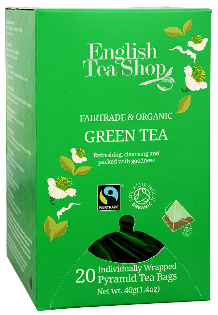 Zobrazit detail výrobku English Tea Shop Čistý zelený čaj 20 pyramidek