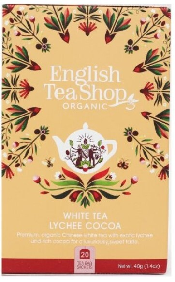 Zobrazit detail výrobku English Tea Shop Bílý čaj s liči a kakaem 20 sáčků