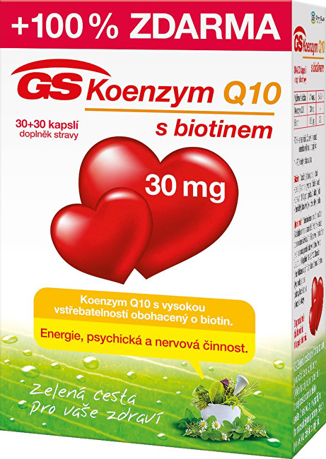 Zobrazit detail výrobku Green-Swan GS Koenzym Q10 30 mg 30 kapslí + 30 kapslí
