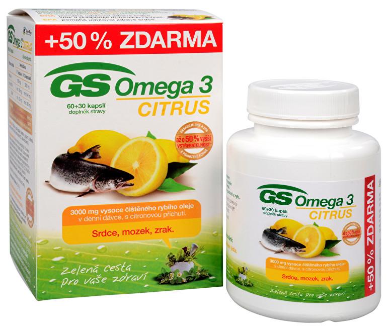 Zobrazit detail výrobku GreenSwan GS Omega 3 Citrus 60 kapslí + 30 kapslí