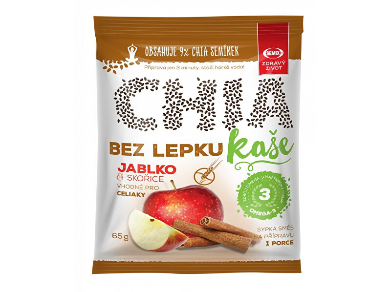 Zobrazit detail výrobku Semix Chia kaše bez lepku jablko skořice 65g