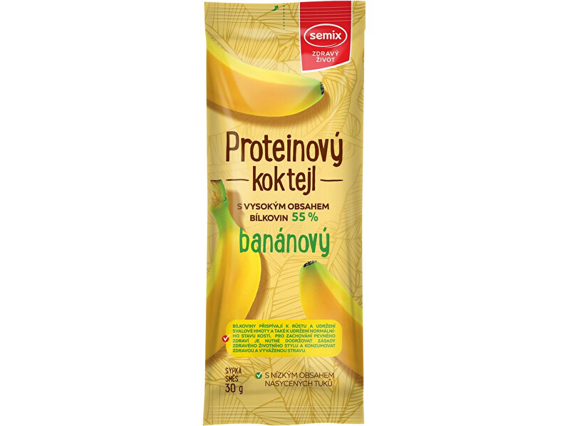 Zobrazit detail výrobku Semix Proteinový koktejl banánový 30g
