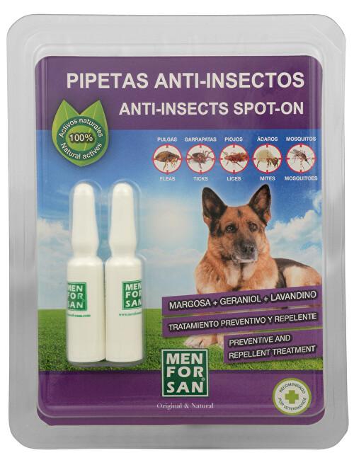 Zobrazit detail výrobku Menforsan Antiparazitní pipety pro psy (100% Natural Repellent Anti-parasite Spot on for Dogs) 2 x 1,5 ml