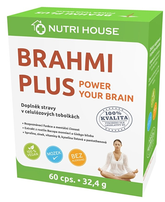 Zobrazit detail výrobku Nutrihouse Brahmi Plus 60 kapslí