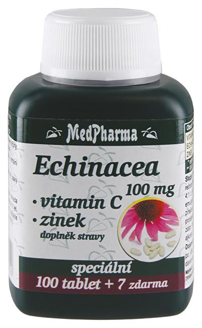 Echinacea 100 mg + vitamín C + zinek 100 tbl. + 7 tbl. ZDARMA
