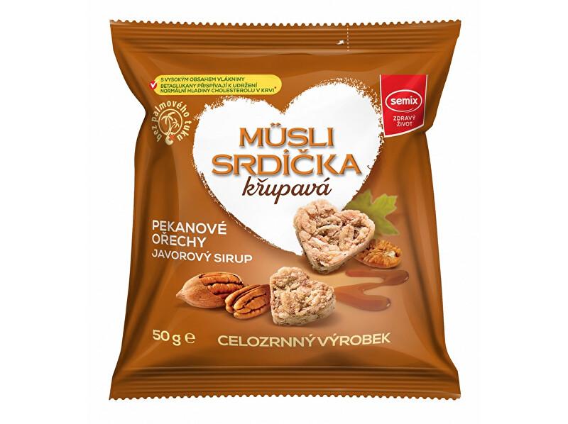Zobrazit detail výrobku Semix Musli srdíčka s pekanovými ořechy a javorovým sirupem 50 g