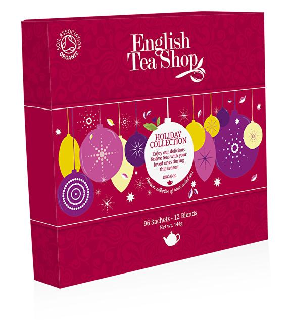 Zobrazit detail výrobku English Tea Shop Papírová kolekce 96 pyramidových sáčků - Kolekce vánoční zima Kolekce červené ozdoby
