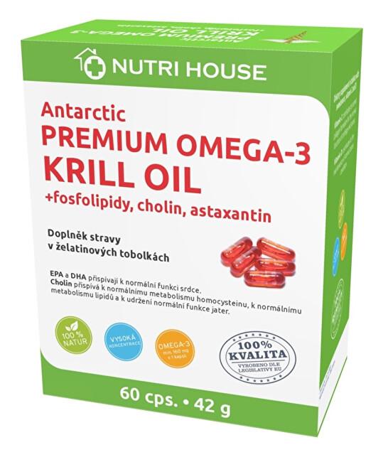 Zobrazit detail výrobku Nutrihouse Premium Omega 3 Krill Oil 60 kapslí