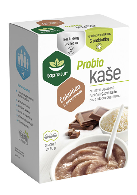 Zobrazit detail výrobku Topnatur Probio kaše čokoláda s proteinem 3x60g