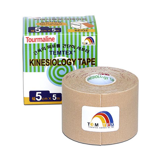 TEMTEX Tejp. TEMTEX kinesio tape Tourmaline 5 cm x 5 m Béžová