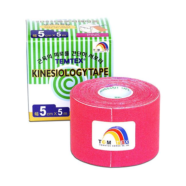 TEMTEX Tejp. TEMTEX kinesio tape Tourmaline 5 cm x 5 m Růžová