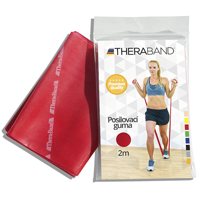 Zobrazit detail výrobku Thera-Band Thera-Band Posilovací guma 12,5 cm x 2 m Červená - středně silná