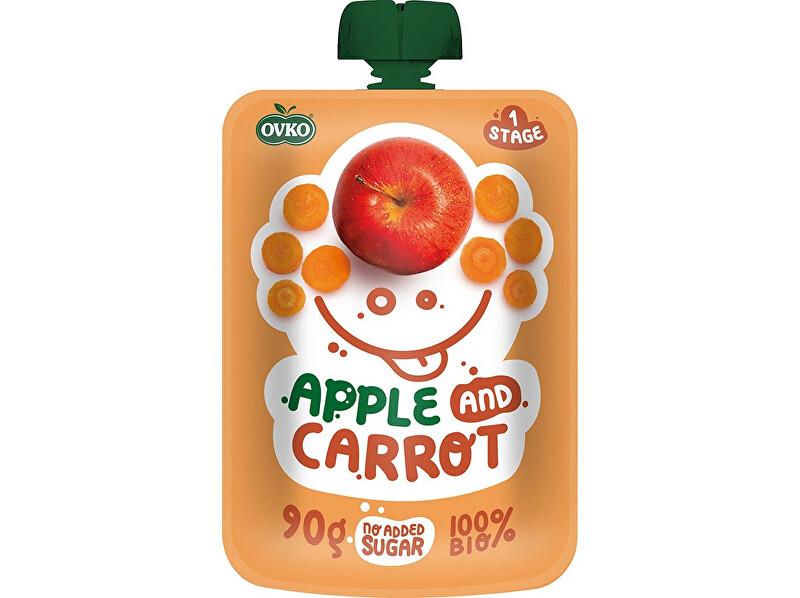 Zobrazit detail výrobku OVKO Bio kapsička jablko, karotka OVKO 90g
