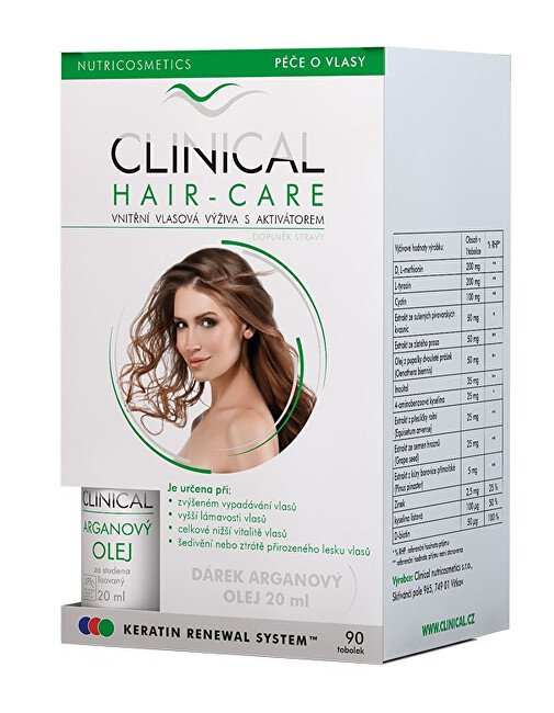 Clinical Clinical Hair-care 90 tobolek  Arganový olej ZDARMA