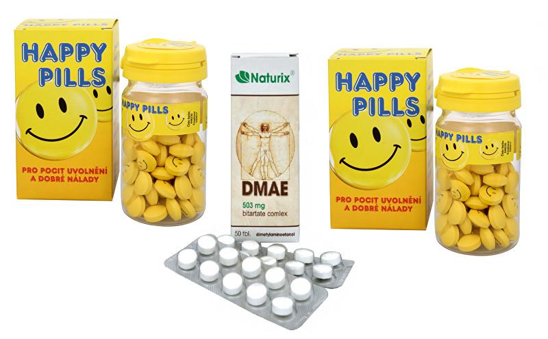 Happy Pills 2 x 75 tbl. + DMAE 50 tbl. zvýhodněné balení