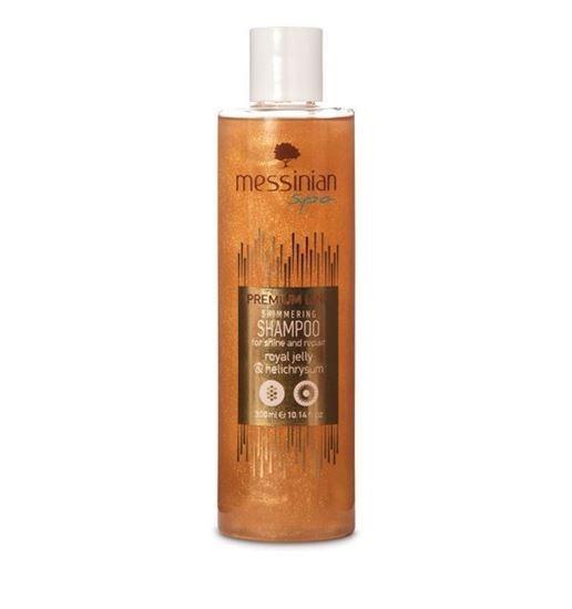 Zobrazit detail výrobku Messinian Spa Šampón pro lesk a regeneraci mateří kašička & smil 300 ml