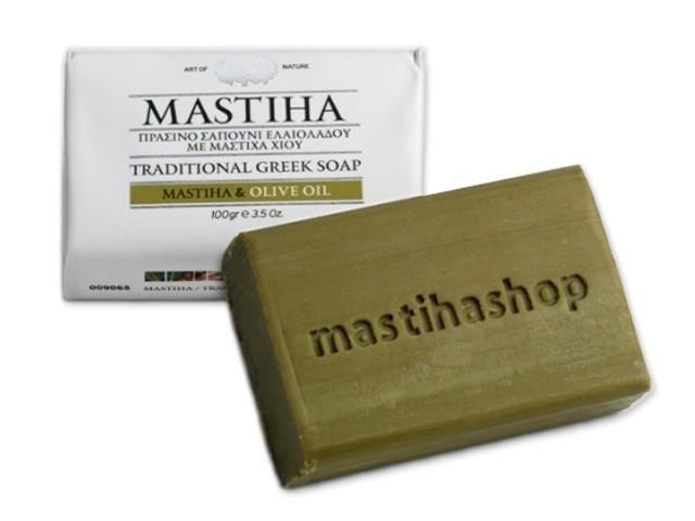 Tradiční řecké mýdlo s mastichou a olivovým olejem 100 g