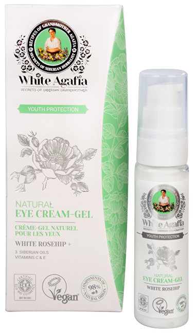 Babushka Agafia White Agafia Youth Protection oční krém-gel do 35 let 30 ml