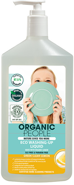 Organic People Gel na mytí nádobí citron 500 ml