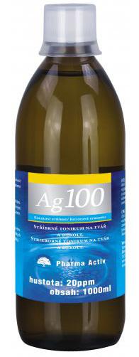 Koloidní stříbro Ag 100 (20ppm) 1000 ml