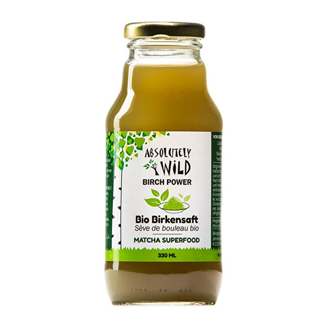 Absolutely Wild BIO Březová voda s matcha 330 ml