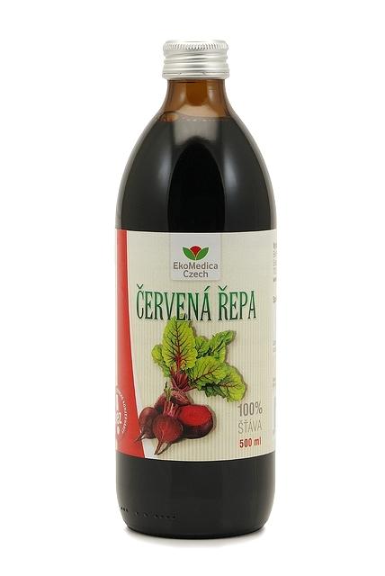 Zobrazit detail výrobku EkoMedica Czech Červená řepa - 100% šťáva z červené řepy 500 ml