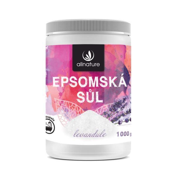 Zobrazit detail výrobku Allnature Epsomská sůl levandule 1000 g