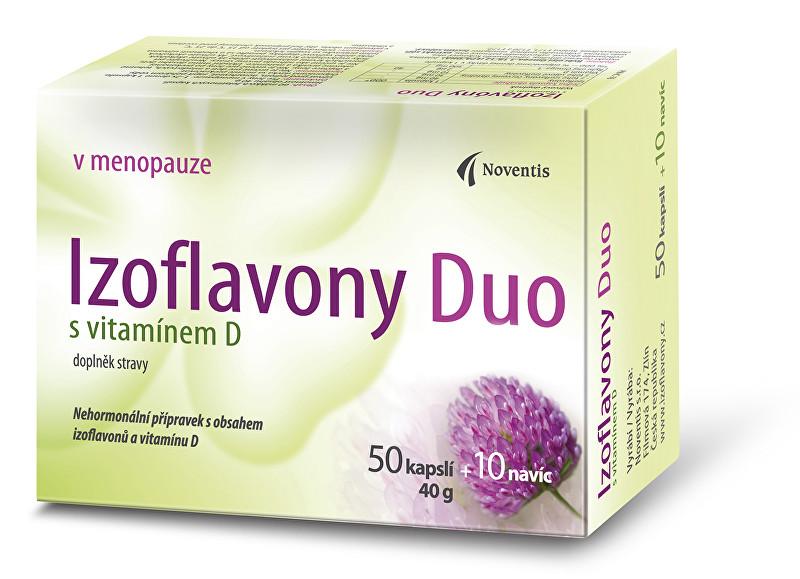 Izoflavony Duo s vitamínem D 50 kapslí + 10 navíc