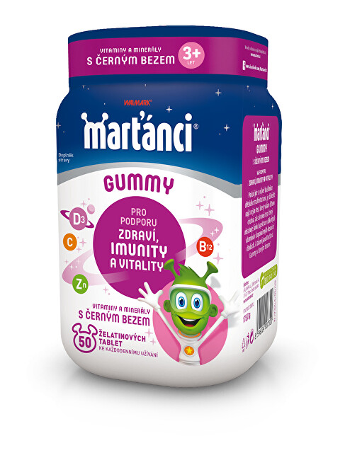 Zobrazit detail výrobku Walmark Marťánci Gummy černý bez 50 + 20 tablet