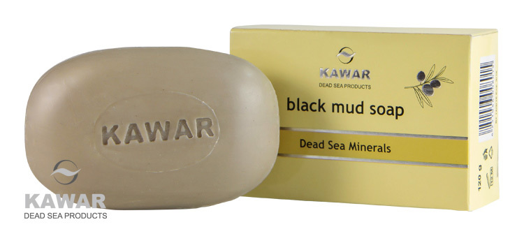 Zobrazit detail výrobku Kawar Mýdlo s obsahem černého bahna z Mrtvého moře 120 g
