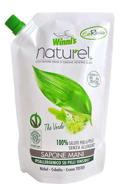Zobrazit detail výrobku Winni´s Tekuté mýdlo se zeleným čajem - náhradní náplň 500 ml