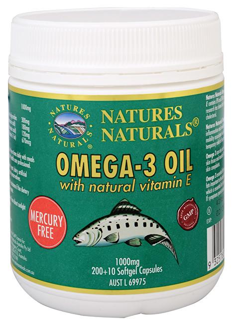 Zobrazit detail výrobku Australian Remedy Omega-3 1000 mg rybí olej s Vitamínem E 210 kapslí