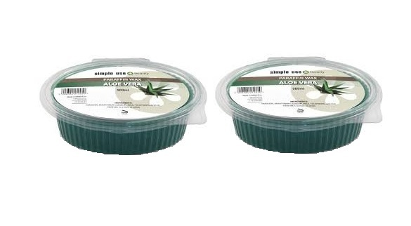 Zobrazit detail výrobku Simple use beauty Parafínový zábal aloe vera 2 x 500 g
