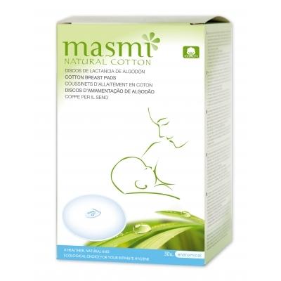 Zobrazit detail výrobku Masmi Prsní vložky pro kojící ženy z přírodní bavlny Masmi 30 ks