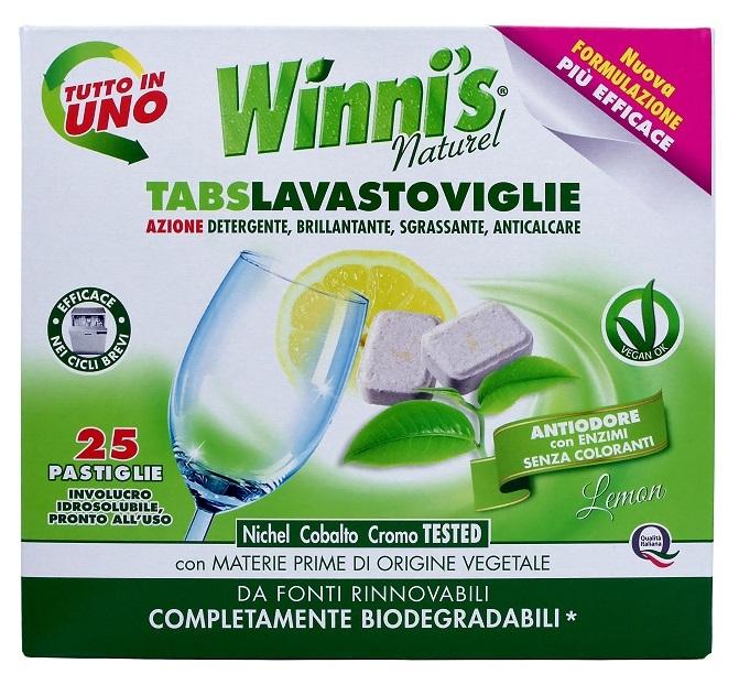 Zobrazit detail výrobku Winni´s Tablety do myčky nádobí s vůní citrónu 25 ks