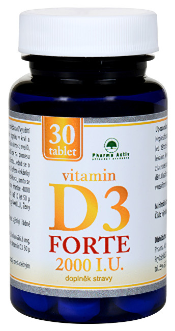 Pharma Activ Vitamin D3 Forte 2000 I.U. 30 tablet