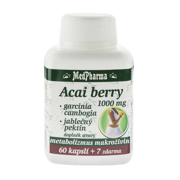 Acai berry 1000 mg + garcinia cambogia + jablečný Pektin 67 kapslí